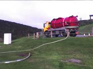 Caravan park sewage collection