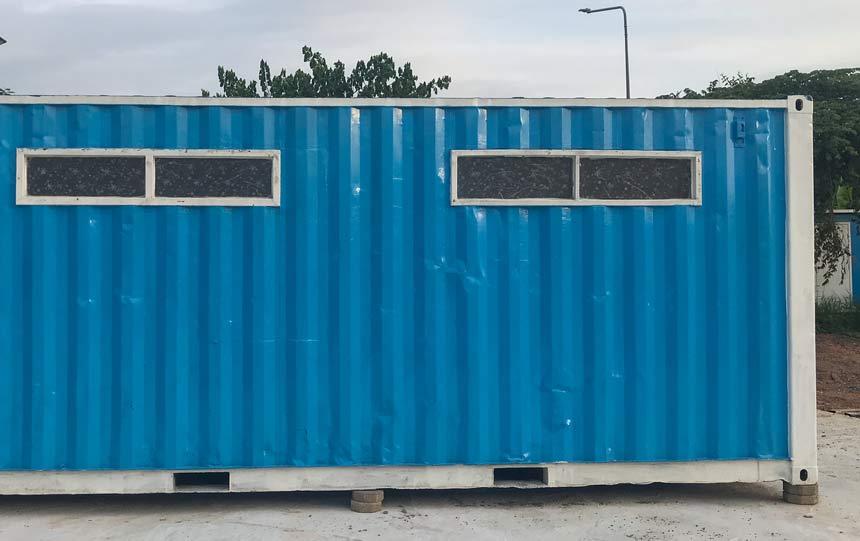 building site toilet block